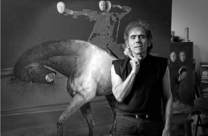 David Manzur expone 'Pasado y Futuro' en el Centro Colombo Americano.