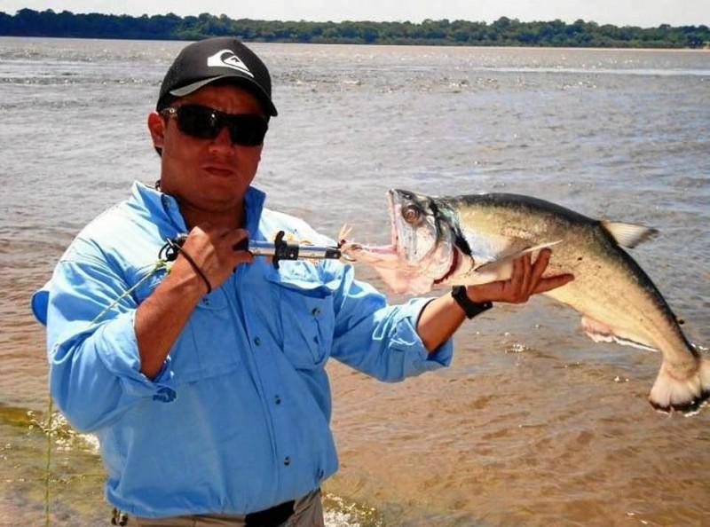 Esta payara la pescó en el río Orinoco.