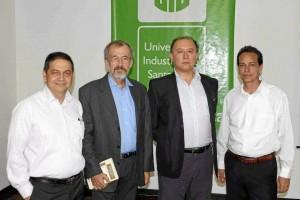 Néstor Rueda, Luis Álvaro Mejía, Julio  César Gómez y Jaime Álvarez.