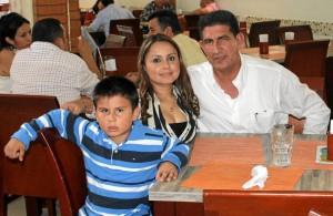 Juan David Morales Caballero, Henny Andrea Caballero Martínez y Aníbal Morales Mogollón.