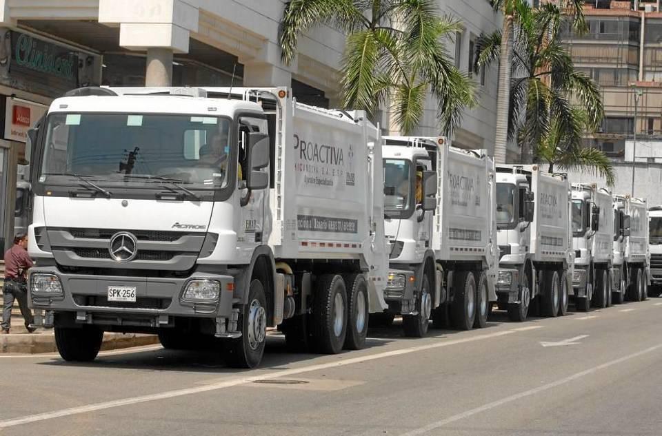 Proactiva S.A. recomienda sacar los residuos entre las 7 y 8 p. m. de lunes a sábado.