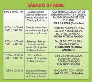 Programación del sábado 27 de abril