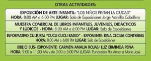 Otras actividades del sábado 27 de abril