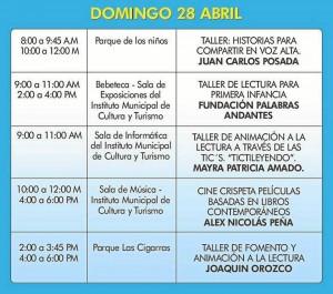 Programación del domingo 28 de abril