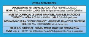Otras actividades del domingo 28 de abril