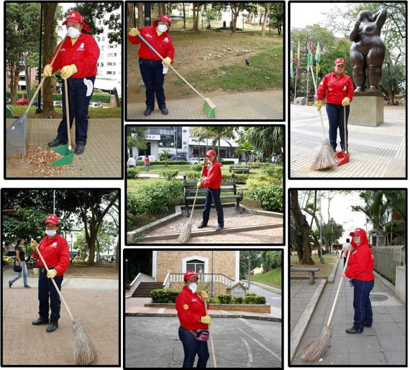Estas son las mujeres que mantienen limpios los parques de Cabecera y sus alrededores.
