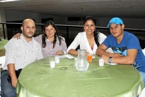 Armando Cortés, Viviana Franco, Katerine Blanco y Carlos Loaiza