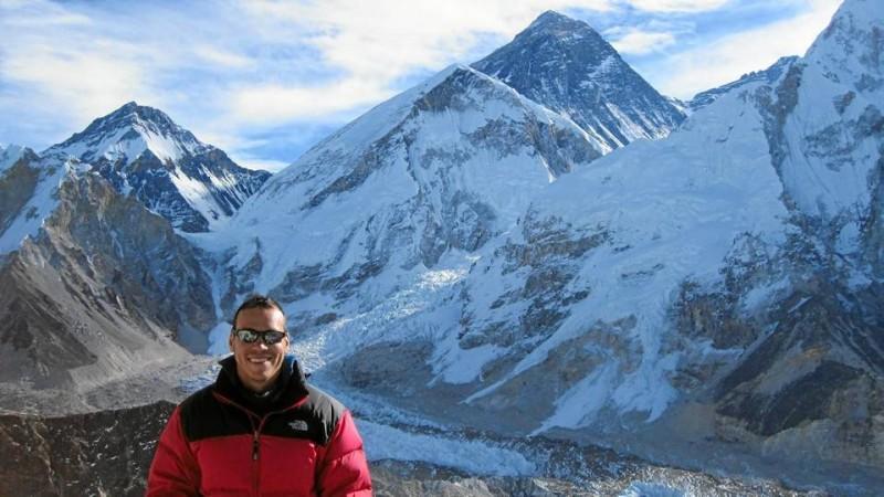 Iván Ricardo en el Kalapatar, Nepal, en otro de sus viajes.