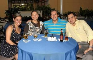 Isabel Beltrán, Liliana Saavedra, Harold Rosero y Juan Diego Ramí-rez.