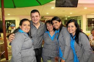 Nini Yadira Ardila, 'El Curry' Carrascal' Amparo Carreño, Isabel Lle-ras y Geraldín Castillo.