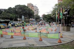 Esta mini ciudad fue trasladada al parque San Pío para usarla como herra-mienta pedagógica a la hora de 'reprender' a los infractores.