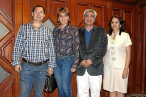 Edwin Fuentes, Olga Lucía Pineda, Julián Rodríguez y Diana Sarmiento.