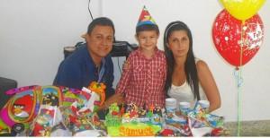 Iván Moreno, Samuel Moreno Vega y María Angélica Vega