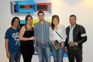 Alfonso Becerra, Janeth Ochoa, Juan Sebastián Sorzano, María Clara Jaramillo y Jhon Suárez.