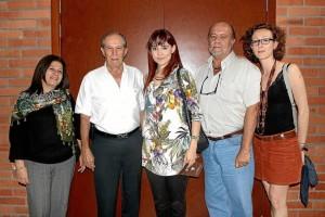 Magnolia Sánchez, Alberto Montoya, Alicia Borja, Rafael Mantilla y Johana Mantilla.