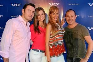 Édgar Rodríguez, Lizet Durán, Laura Acuña y Leo Maldonado