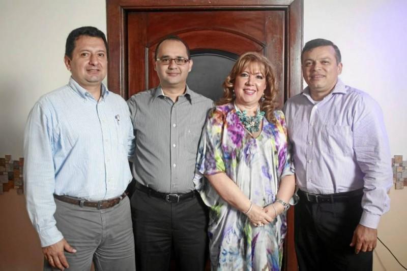José Alejandro Sandoval Barbosa, Juan José Sanabria Díaz, Teresa Eugenia Prada González y Manuel Olago Villamizar.