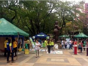 La 'Feria al Parque' se realizó en San Pío el viernes 17 de mayo