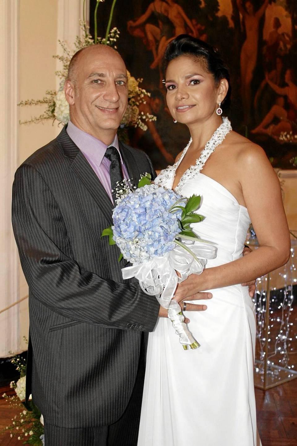 Frank Kadlec y Diana María Reyes.