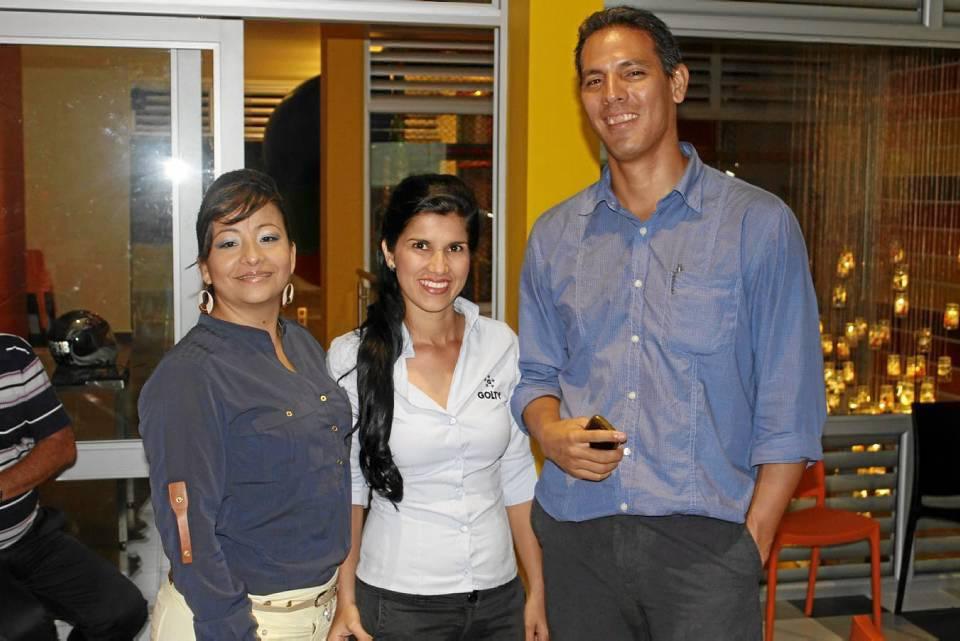Andrea Durán, Leidy Camacho y Andrés Gaitán.