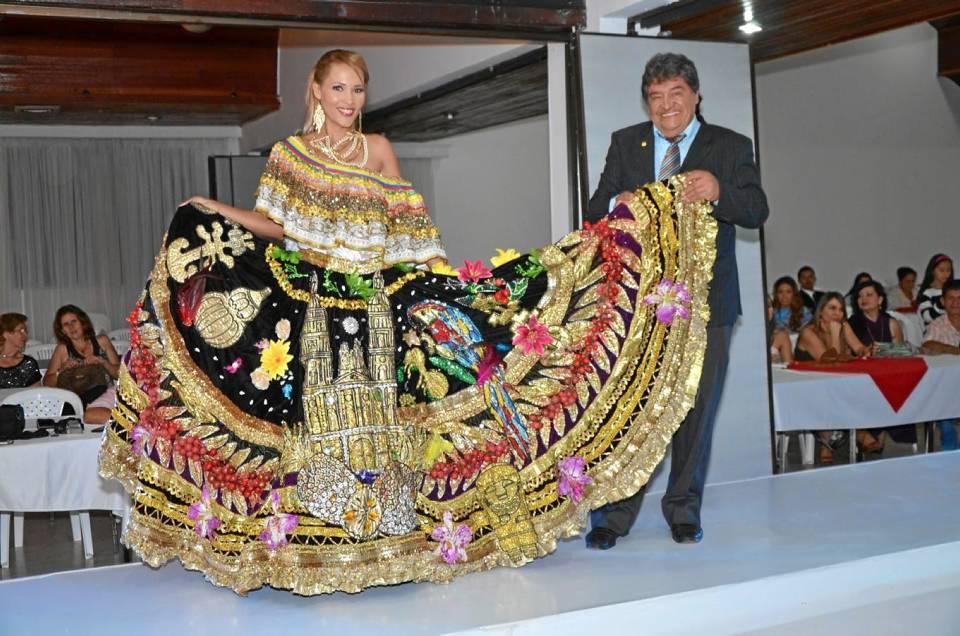 El vestuario que llevará al evento internacional fue confeccionado por el diseñador santande-reano Alfredo Rueda Rueda.