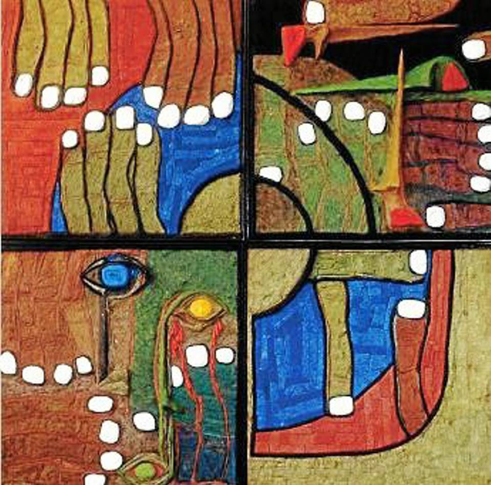 Estas son algunas de las obras que expone Gabriel Rey hasta el 28 de junio en la Cámara de Comercio de Bucaramanga.