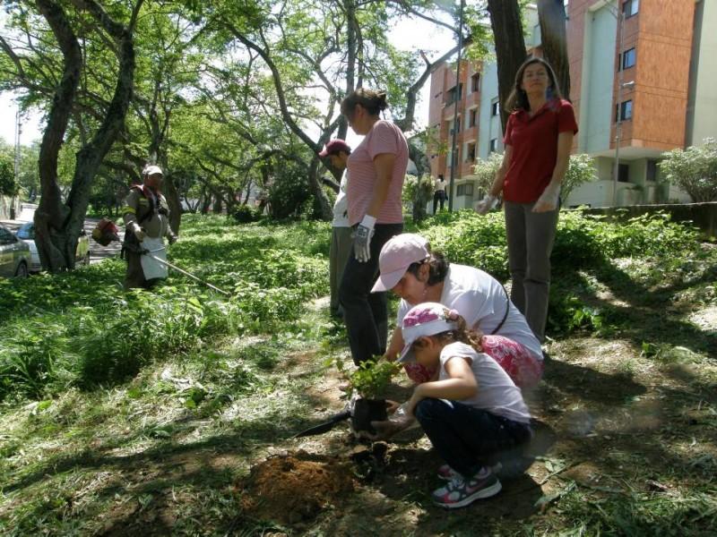 A la jornada acudieron los niños, los más interesados en sembrar un árbol. - Jaime Del Río Quiroga / GENTE DE CABECERA