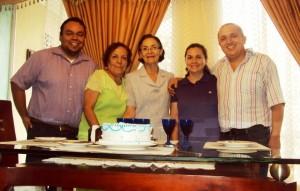 Danny Rensenbrink Sandoval, Ligia Rojas, Gladys Basto, Rosalba de Sánchez y Holguer L. Sánchez  Basto. - /GENTE DE CABECERA