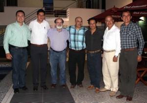 Jhon Duarte, Pedro Camacho, Mario Gómez Díaz, Henry Carrizales, Omar Prado, Mauricio Cuadros y Pacho Centeno. - Mauricio Betancourt /GENTE DE CABECERA