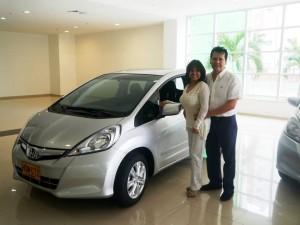 El auto fue entregado a Edith Maritza Angulo. - Suministrada /GENTE DE CABECERA