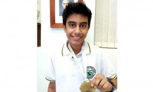 Nicolás Carmona, del colegio San Pedro Claver también obtuvo medalla. - Suministrada /GENTE DE CABECERA