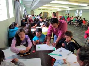 Los artistas comparten con los niños del estado de Illionis, en Estados Unidos. - Suministrada /GENTE DE CABECERA