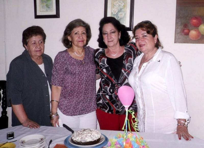 Ana Elvia de Borja, Nancy Garnica, Emperatriz de Ponce de León y Nubia de Mantilla. - Suministrada /GENTE DE CABECERA