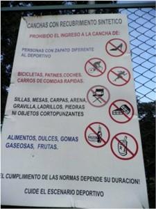 Los deportistas piden cumplir las normas que ayudan a conservar el escenario deportivo. - Suministrada /GHENTE DE CABECERA