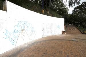 El caso que más llamó la atención fue en el parque La Loma, pues recién limpiaron las paredes aparecieron de nuevo grafitis
