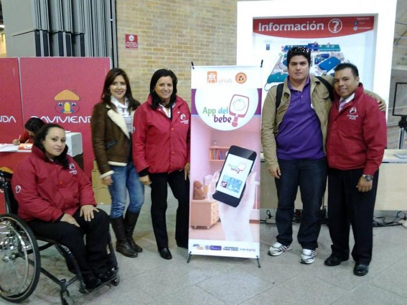 Los emprendedores estuvieron en Bogotá promocionando su aplicación. - Suministrada / GENTE DE CABECERA