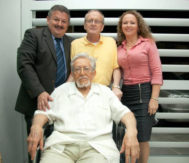 Antonio Bonilla, Fray José de Jesús Sedano, Fray Carlos Arturo Díaz y Maigret Pedraza. - Suministrada /GENTE DE CABECERA