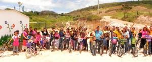 Las bicicletas fueron entregadas a 22 niños de la zona rural de Girón. - Suministrada /GENTE DE CABECERA