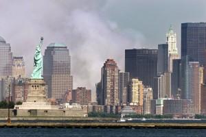 El panorama desde la Estatua de la Libertad no podía ser más opaco la tarde del 11 de septiembre de 2001.