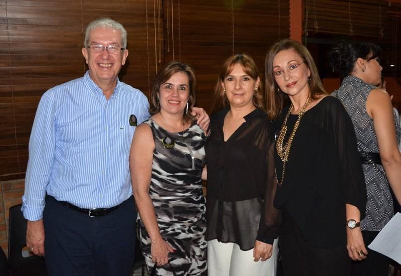 Gabriel Rincón Uribe, Consuelo Ordóñez de Rincón, Carmen Cecilia Simijaca y Marta Lucía Oliveros. - Suministrada / GENTE DE CABECERA