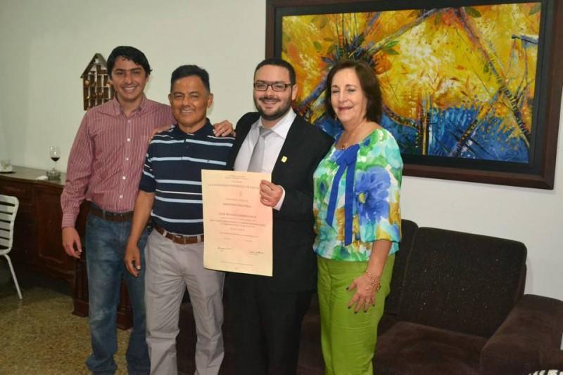 Andrés Felipe Camargo León, Gilberto Camargo Amorocho, Nicolás Camargo León y Martha Helena León Franco.  - Suministrada / GENTE DE CABECERA