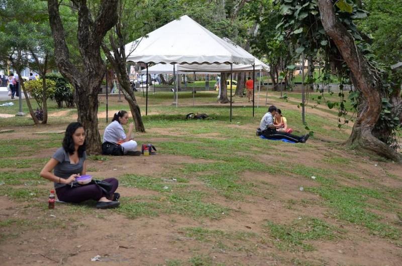 El parque San Pío, aunque fue aseado luego de los eventos de la Feria, necesita con urgencia siembra de prado