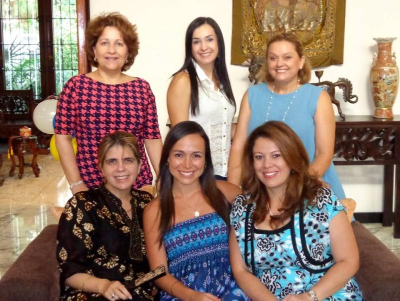 Alicia Maldonado Copello, Angélica María Aguilar Rueda, Rocío Mejía, Lorna Riveros, Isabel Gómez y Sonia Pérez Martelo. - Suministrada / GENTE DE CABECERA