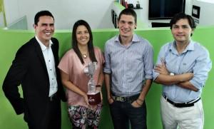 Francisco Serrano Novoa, Jovana Díaz Venner, Eduardo Pilonieta Matiz y Juan Guillermo Vargas Harker son los socios de PVS Agencia. - Suministrada / GENTE DE CABECERA