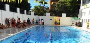 La familia claveriana y demás participantes compartieron un fin de semana en la nueva piscina del colegio. - Suministrada Comunicaciones San Pedro Claver / GENTE DE CABECERA
