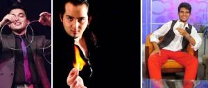 Los magos Germán Arciniegas (izquierda), Juan Álvarez (centro) y Leonardo Niño (derecha) cerrarán el mes de la magia en Cuarta Etapa.  - Tomadas de Internet / GENTE DE CABECERA