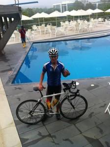Semanalmente Sergio hace 20 mil metros de natación, 200 kilómetros de ciclismo y 50 kilómetros de atletismo. - Suministrada /GENTE DE CABECERA
