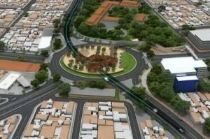 El proyecto del intercambiador del Mesón de los Búcaros tendrá un paso elevado que corresponde a la avenida Quebradaseca