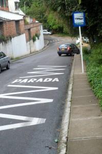 lLas estaciones que fueron señalizadas fueron todas, incluidas la de la ruta de regreso, como esta de la carrera 38. - Suministrada / GENTE DE CABECERA
