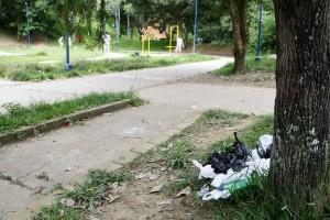 Los desechos de los perros a veces son abandonados en las máquinas del gimasio al aire libre del parque. - Archivo / GENTE DE CABECERA